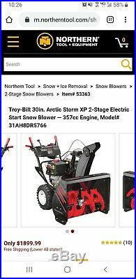 30 Troy Bilt Two-Stage Snow Blower / Thrower Storm 3090XP 357cc (14hp) Deluxe