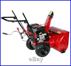 30 inch 302cc Two-Stage Electric Start Gas Snow Blower Snow Thrower