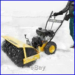 31 Walk-Behind Snow Sweeper Power Brush Broom Mower 7hp Gas-Powered Engine