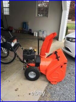 Arien 26 snow blower, elec. Start, used once, $550