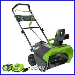 Cordless Electric Snow Blower 20 Thrower LED Lights Lithium Ion Battery Charger