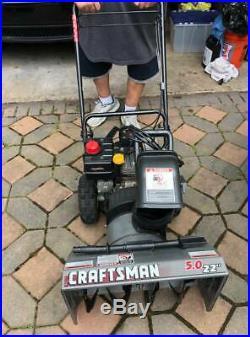 Crafstman 5.0 22 Snowblower