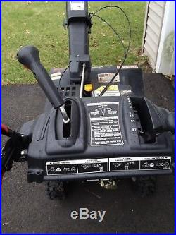 Craftsman 28 inch clearing width, two stage gas snow blower