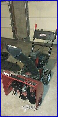 Craftsman 2 stage snowblower 24 inch electric start self propelled gas engine