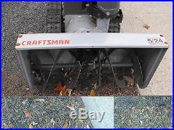 Craftsman TracPlus Snowblower 2 Stage 5HP 24wide Electric Start Excellent Shape