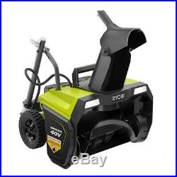 Electric Snow Blower 20 in. 40-Volt Cordless Thrower LED Headlights New Ryobi