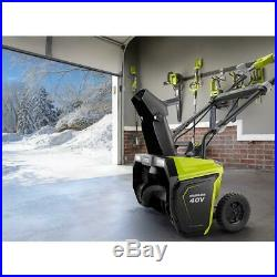 Electric Snow Blower Cordless Brushless Led Headlights Driveways With Battery &