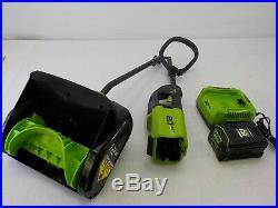 Greenworks 2600602 PRO 12-Inch 80V Cordless Snow Shovel, 2.0 AH Battery