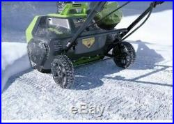 Greenworks Pro 60-Volt 20-in Single-Stage Push Cordless Electric Snow Blower