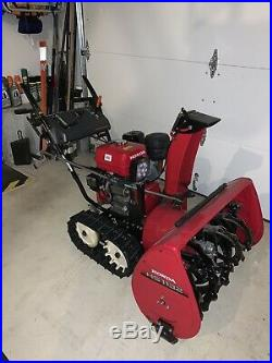 HONDA HS1132 11hp 32 Snowblower with Tracks. LED Light and Cover