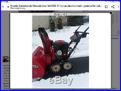 Honda Snowblower HS 1132 Heavy Duty Electric Start 32 Clearance