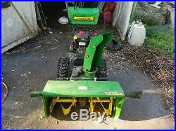 John Deere 2 Stage Model #1130SE Snow Blower with hand warmers