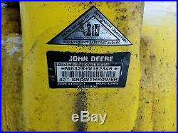 John Deere 42 Inch tractor Snowthrower 240 to 345 see booklet photo