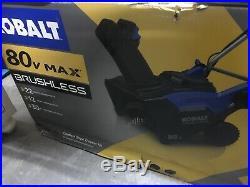 KOBALT 22 80V MAX Brushless Cordless Snow Blower New