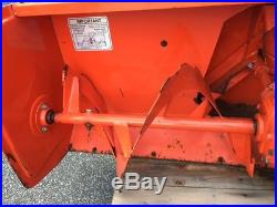 Kubota 2 Stage Snow Blower BX2750D with Hitch and driveshaft