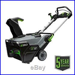 Lithium Ion 56 Volt Cordless Electric Snow Blower With Two Batteries Charger