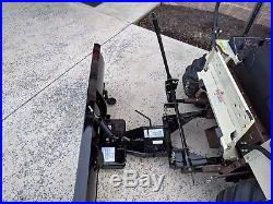 NEW GRASSHOPPER MANUAL ANGLE SNOW BLADE RA8015 With QUICK HITCH RA8002 623T 725D