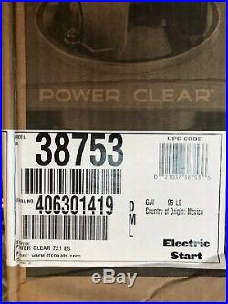 NEW TORO Snow BLower Power C721 E 21 in. 212 cc Single-Stage Self Propelled Elec