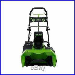 New GreenWorks Cordless 20 Snow Thrower 26272 G MAX 4Ah 40 Volt Battery Charger