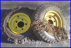 Pair John Deere 726, 826 Snowblower 4.80/400-8 Studed Tread chains Wheel & Tire