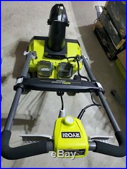 RYOBI 20 in. Cordless Snow Blower 40v with LED Headlights BRUSHLESS