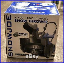 Snow Joe ION18SB Snow Thrower Cordless 40V/4.0 Ah