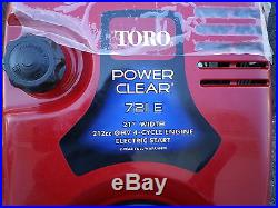 TORO POWER CLEAR 721-E 21 212cc ohv 4 Cycle engine Electric start