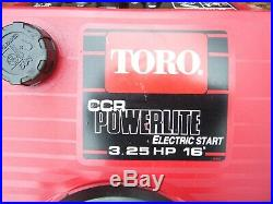 Toro Ccr Powerlite Snowthrower / Snow Blower, Electric & Pull Start