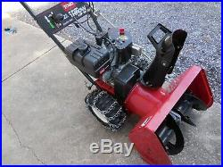Toro Two Stage Snow Blower 22 Inch Electric Start Mod 622 w Chains 6HP Engine