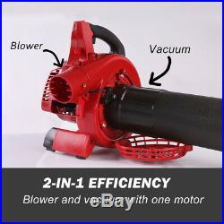 X-BULL Leaf Blower Powered Vacuum Handheld Commercial Yard Outdoor 26ccGasoline